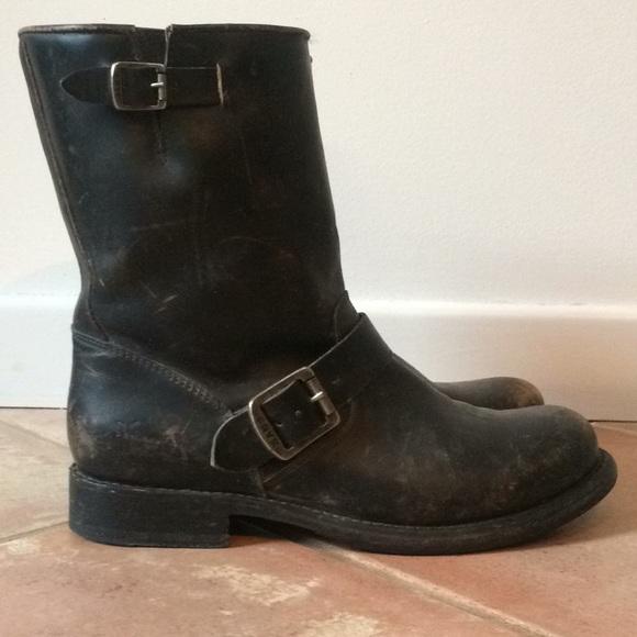 f90f927998c40 Frye Shoes - Frye Jenna Engineer Short Black Women 9
